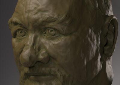 Портрет деда. Творческий проект. 2016 год.